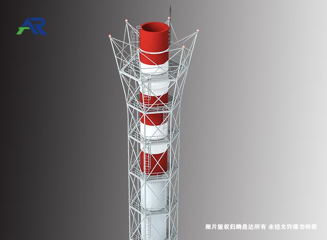 塔架式玻璃钢烟囱