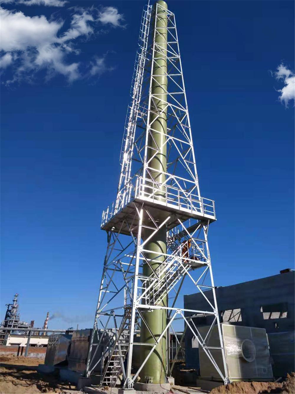 塔架式玻璃钢烟囱2