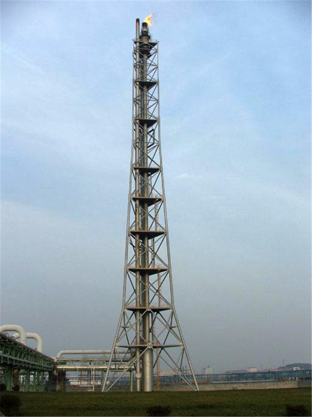 三角形塔架式烟囱